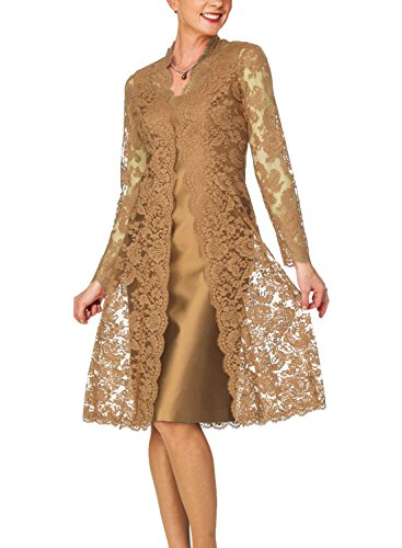 Buy mother of the bride short dress with jacket - 9