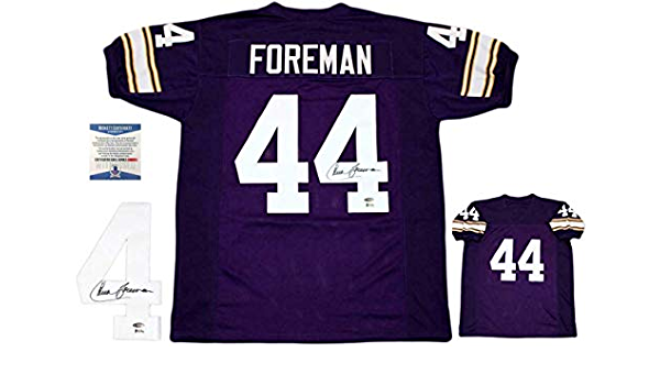 Chuck Foreman Autographed SIGNED Jersey - Beckett Authentic ...
