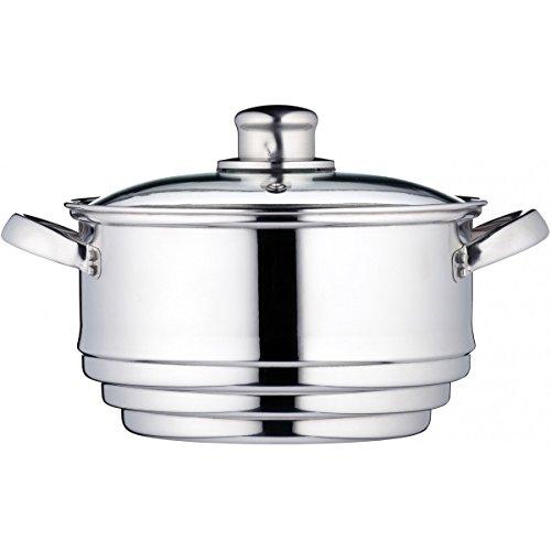 Kitchen Craft Clearview - Olla universal para cocinar al vapor, acero