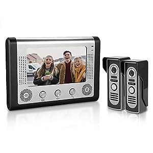 7 inches LCD Waterproof Doorbell, Video Door Phone WiFi Intercom Doorbell System Kit Home Security with IR Night Vision…
