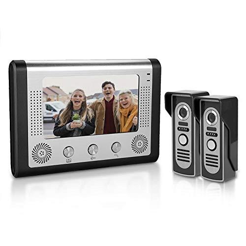 Doorbell, 7inches LCD Waterproof Video Door Phone WiFi Intercom Doorbell System Kit Home Security with IR Night Vision/Two-Way Voice Intercom/Electric Lock Control(US Plug)