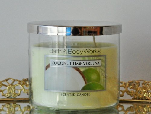 Bath & Body Works Coconut Lime Verbena 3 Wick Candle - 14.