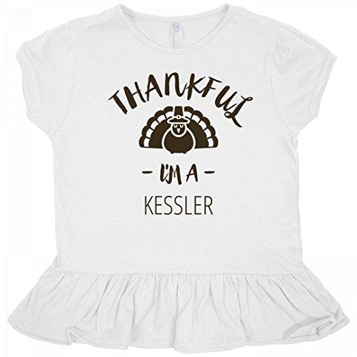 Org Turkey (Thanksgiving Thankful I'm A Kessler: Toddler Rabbit Skins Ruffle Fine Jersey Tee)