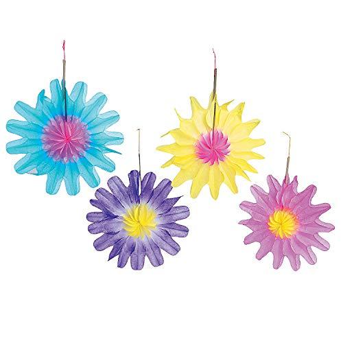 Fun Express Tissue Flower Decorations (1 Dozen) -