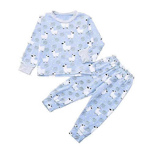 Romance8 Sheep Jacket + Pants Baby Girls Boys Long-Sleeved Christmas Costum Sets]()