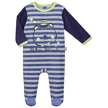 Pyjama bébé velours Little boy - Taille - 3 mois (62 cm) Petit Béguin