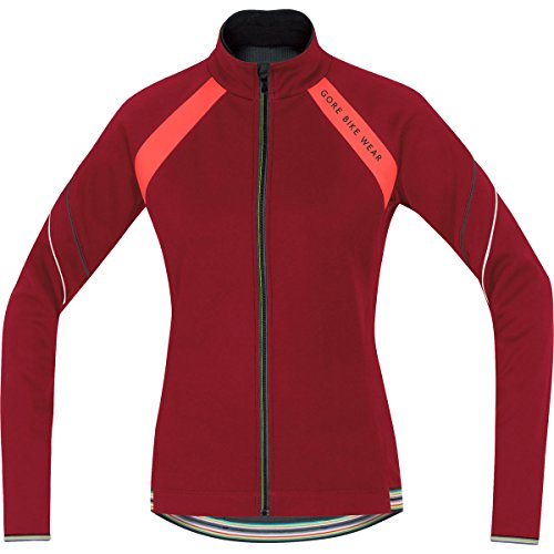 Gore Bike Wear Power Windstopper Soft Shell Lady - Chaqueta de ciclismo para mujer Verde (ruby red / lumi orange)