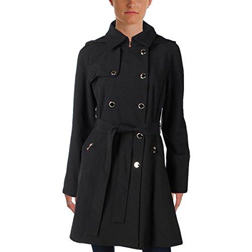 Ivanka Trump Women's Softshell Belted Coat, Black, x Large (Flare Shell)