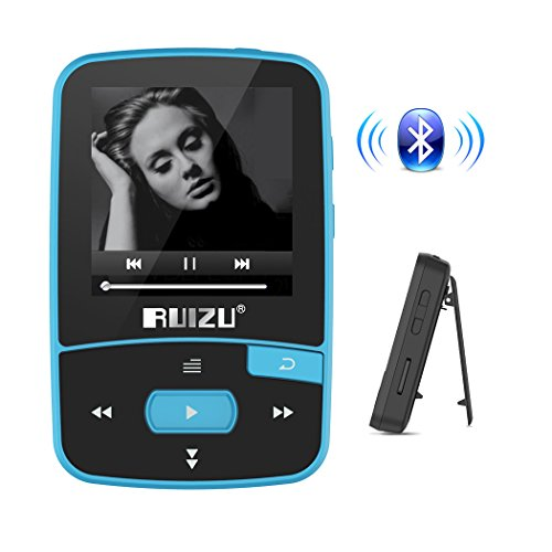 Bluetooth Mp3 Player,Portable Clip Mp3 Music Palyer with Lossless Sound and Support Expandable Up to 128GB(Blue)