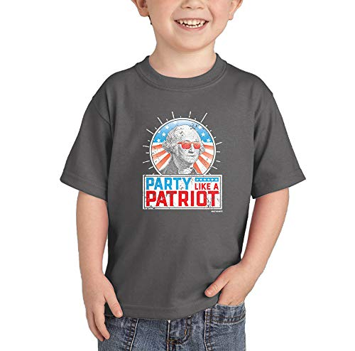 (Party Like A Patriot - USA Murica Infant/Toddler Cotton Jersey T-Shirt (Charcoal, 3T))
