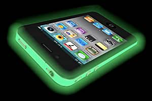 Iphone 4 GLOW IN THE DARK Case (Green) Silicone Protective Case for iPhone 4 and 4S