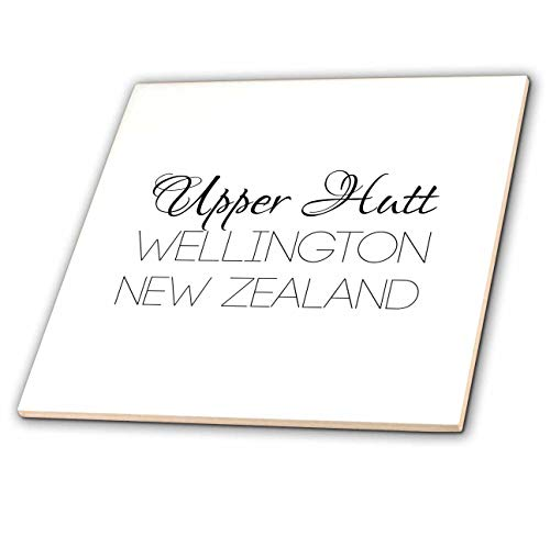 3dRose Alexis Design - New Zealand Cities - Upper Hutt, Wellington, New Zealand. Patriot, Region Home Town Design - 8 Inch Glass Tile (ct_308532_7) ()