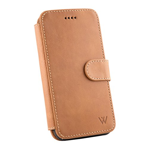 Wilken iPhone Xs Max Leather Wallet with Detachable Phone Case | Wireless Charging Compatible | Top Grain Cowhide Leather | (Tan, XS Max)