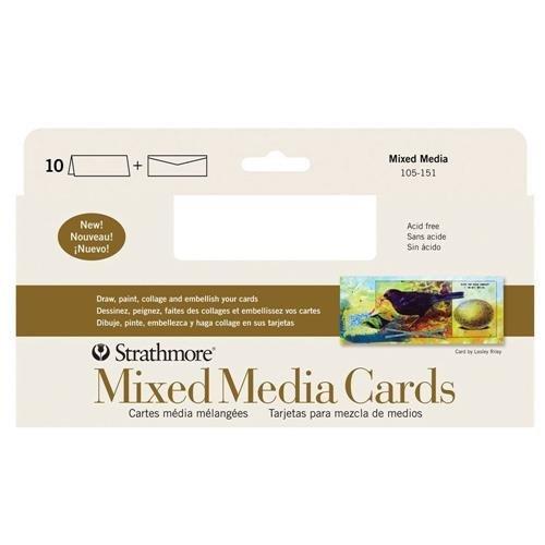 - Strathmore (105-151-1 STR-105-151 Mixed Media Slim Cards (10 Pack), Size, Envelopes