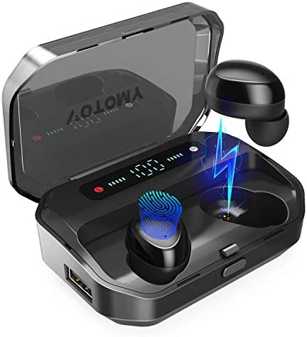 Wireless Earbuds, VOTOMY Bluetooth 5.0 in-Ear Headphones 200 Hrs Playtime, 5D HD Stereo Sound, Mono Share Mode, IPX7 Waterproof, 3500mAh Charging Case Built-in Mic Sports Earphones for Work and Gym