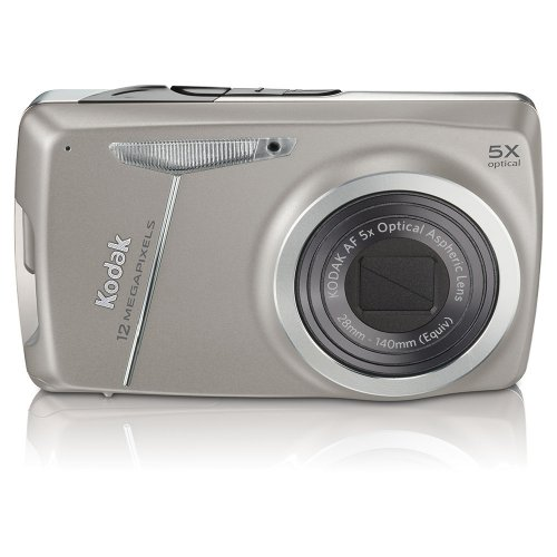 Kodak Easyshare M550 12 MP Digital Camera with 5x Wide Angle Optical Zoom and 2.7-Inch LCD (Dark Grey) (Kodak Gray Card)
