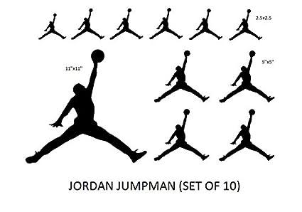 Set nba jordan 23 jumpman logo air huge vinyl decal sticker for wall car room windows