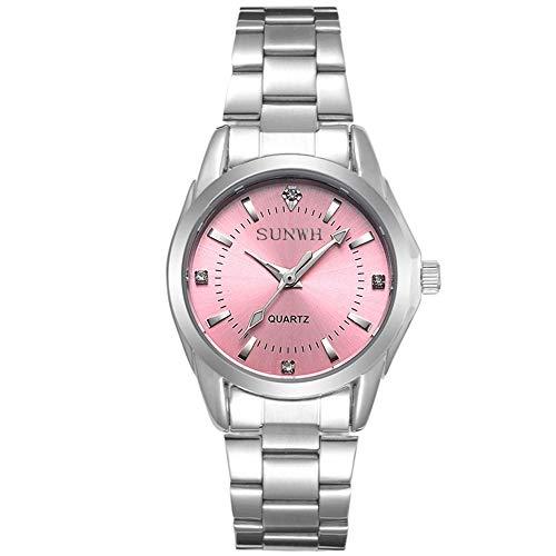 - Women's Watches Gorgeous Luxury Dress Casual Fashion Waterproof Watches Diamond Rhinestone Quartz Wrist Watch-Pink
