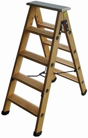 Outifrance 8832070 – Escalera Madera Doble Plano de subida de compás acero 6 peldaños con Tablet: Amazon.es: Bricolaje y herramientas
