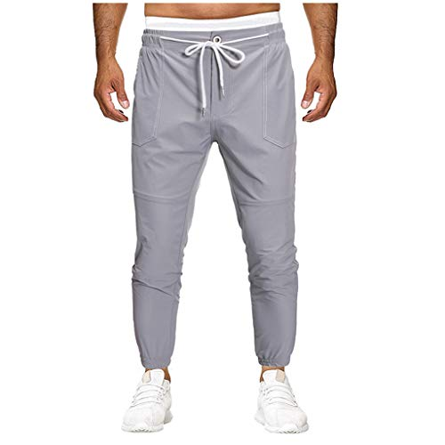 Men's Skinny Sweatpants | Mens Casua Slim Fit Workout Jogger Yoga Tapered Pants | Comfy Drawstring Athletic Running Trousers