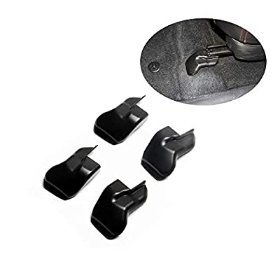 JSTOTRIM Fit for 2015-2020 Toyota Tacoma 4PCS Anti-dust Seat Bracket Fixing Bolts Cover Trims Accessories: Automotive