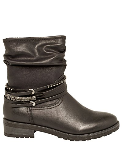 Women's Round Toe Flat Ankle Boots Casual Shoes - 9