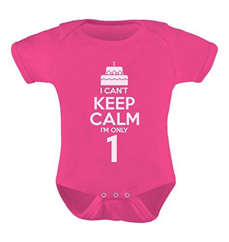 TeeStars - Birthday Cake - I Can't Keep Calm I'm one Cute Baby Bodysuit 12M Wow -