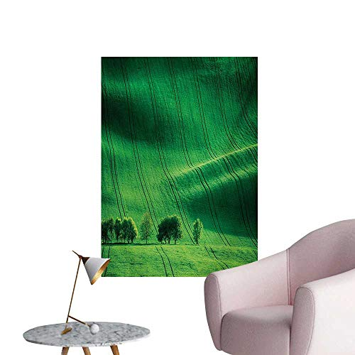 Anzhutwelve Europe Art Stickers Rolling Sunny Hills with Meadow Fields and Trees Southern MoraviaCzech Republic Print W32 xL48 Art Poster
