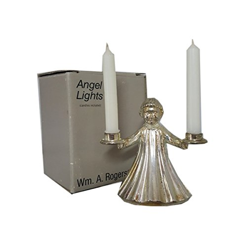 (William A. Rogers Angel Lights Silver Plated Angel Mini Candle)
