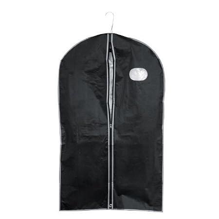 Kleidersack - Kleiderhülle mit Reißverschluss & Sichtfenster - schwarz - Maße: ca. 100 x 60 cm