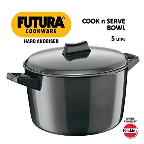 Hawkins/Futura L65 Hard Anodised Cook and Serve Stewpot/Bowl, - Sauce Pot Futura