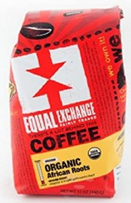 Equal Exchange Organic Coffee, African Roots, Whole Beans, 12 Ounces, 3 PACK