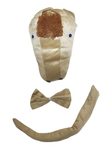 Petitebella 3D Headband Bowtie Tail Unisex Children 3pc Costume (3D (Horse Ears And Tail Costume)