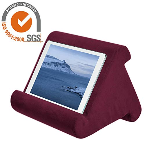 Tablet Stand Pillow Holder Soft Pillow Lap Stand for iPad- Universal Phone and Tablet Stands and Holders Can Be Used on Bed, Floor, Desk, Lap, Sofa, Couch