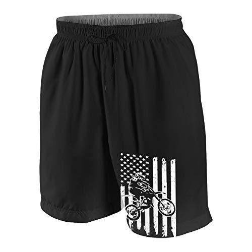 - NFtrend Motocross Dirt Bike Teens Boys Girls Beach Board Shorts Quick-Dry Swim Trunks M(10-12) White