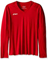 Girl's ASICS Girls Jr Roll Shot jersey, Red, Large