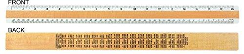 Woodrow 18'' Inches & Metric 2 Bevel Wood Ruler by Woodrow