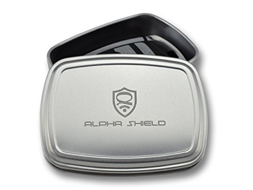 Alpha Shield 1000/% Safe NFC Key Cover Super Tough New Development Shield Case Holder RFID Blocking Case Keyless Go Protection Aluminium Box without Compromise