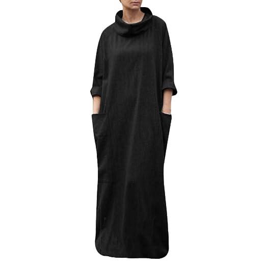 Amazon.com: HULKAY Plus Size Turtleneck Dresses for Women ...