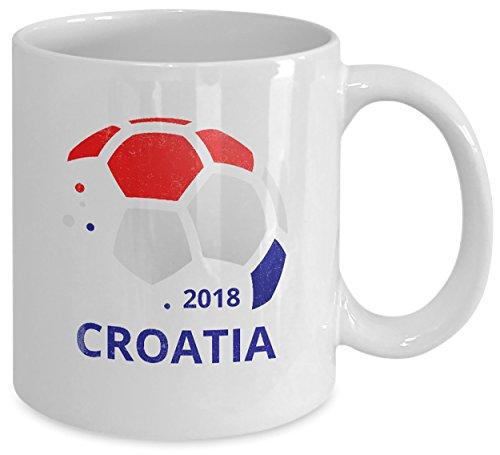 Coffee Mug - 11oz White Ceramic Tea Cup. World Futbol Croatian Pride Novelty Gift. Set of 1. ()