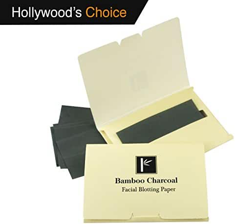 2 Pack of Pretie Asian Bamboo Charcoal Facial Blotting Paper/Oil Absorbing Sheets - Extra Thick, Super Absorbent, Pop-up Inter folded.