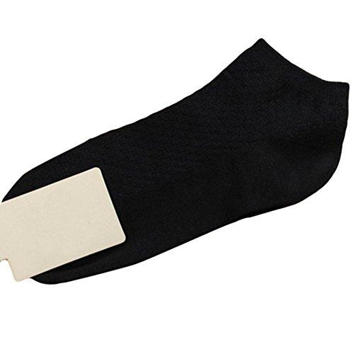 Paire Adeshop Pure Les Chaussettes Anti Bambou Couleur Hommes 1 D'affaires Confortables Élasticité Respirant De Fibre D'hommes Noir Enferment bactériennes ppwa5xqr