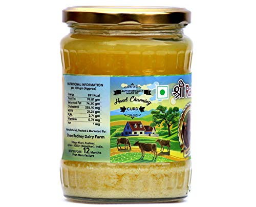 Shree Radhey Certified A2 Gir Cow Ghee - Clarified Butter - 100 % Grass Fed- (Traditionaly Churned) 14 oz (400 gm)) by Shree Radhey (Image #1)