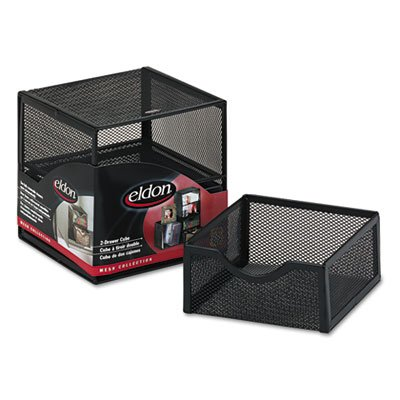 o Rolodex o - Organization 2-Drawer Cube, Wire Mesh, Storage, 6w x 6d x 6h, - Cube 2 Organization Mesh Drawer