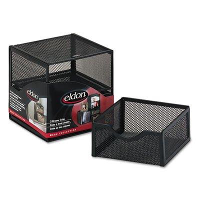 o Rolodex o - Organization 2-Drawer Cube, Wire Mesh, Storage, 6w x 6d x 6h, (Wire Mesh 2 Drawer Cube)