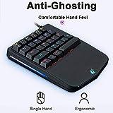Freewolf K9 Keyboard Single Hand Green Axis Mechanical Keyboard Gun God Throne Mobile Game Jedi Survival Chicken Game Keyboard