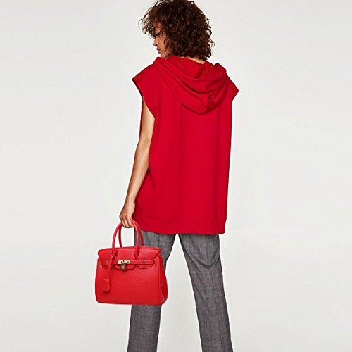 Totalizador Nicole amp;doris Mujer Rojo Bolsa Crossbody Mano Dama De Cartera Bolsos Pu Hombrobolso w1Hqzpw
