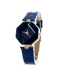 BLACKMAMUT Reloj Mujer Análogo Modelo Octagono Caratula En Forma De Rombo Zirconias Incrustadas Incluye Estuche Blister Azul