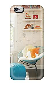 Cynthaskey Iphone 6 Plus Hybrid Tpu Case Cover Silicon Bumper Ed Nursery With Blue Chair And Pouf