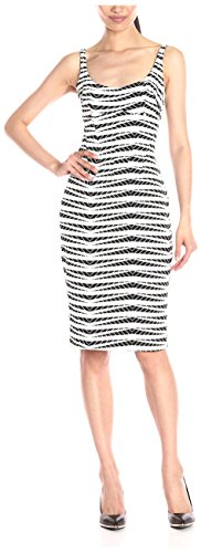 A.B.S. by Allen Schwartz Women's Scoop Neck Body-Con Dress, Black/White, XS
